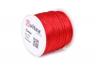Шелк Гладкий 1,5мм Цвет Красный 01