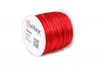 Шелк Гладкий 2,0мм Цвет Красный 01